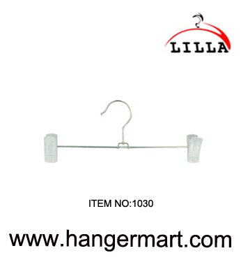 LILLA-anti-rust metal pants hanger with adjust clamps 1030