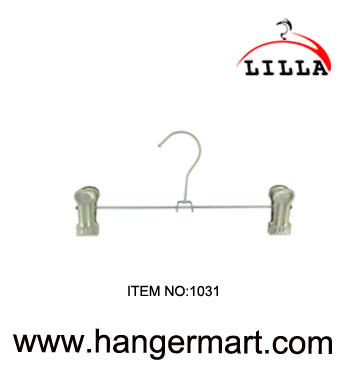 LILLA-Strong metal clip hangers chrome clothes coat trouser skirt  1031