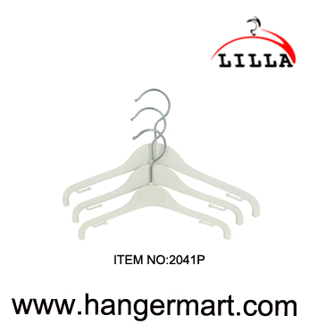 LILLA-25-40CM white plastic hanger for clothes item code:2041