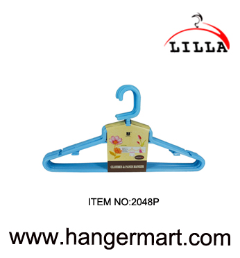 LILLA-good quality plastic blue color clothes hanger 2048P