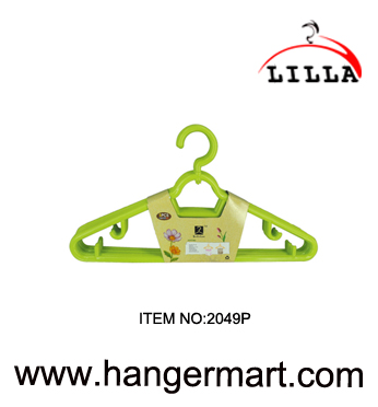 green color plastic hangers