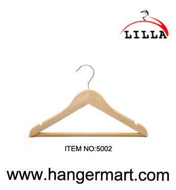 LILLA-Children's natuur houten blad kleerhangers peuter van de kleding 5002