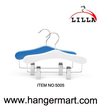 LILLA-peuter houten kleerhangers met broek rok clips 5005