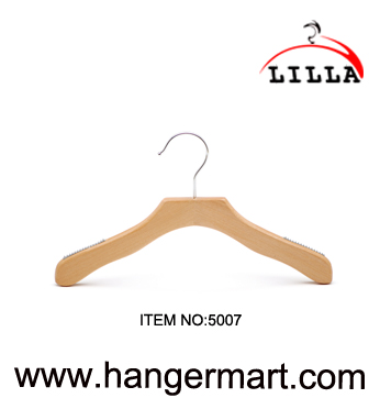 LILLA-High quality flat style baby hangers and wooden hangers 5007