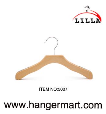 LILLA-Hoge kwaliteit vlakke stijl kindje hangers en houten hangers 5007