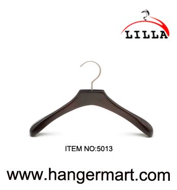 SMALL- wide shoulder baby wooden coat hangers with anti-rust hook, natura 5013