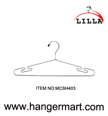 LILLA-anti slip hanger stainless steel metal wire hangers non slip clothes hangers MCSH403