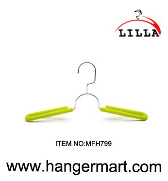 LILLA-metal coat hanger high-grade non-slip yellow sponge MFH799