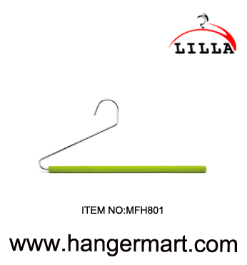 LILLA-Z shape green sponge stainless steel pant trousers hanger MFH801