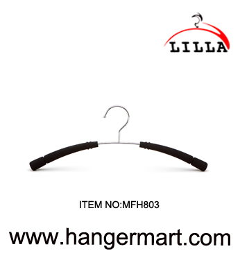 LILLA- non-slip clothes metal hanger with pearl cotton pad MFH803