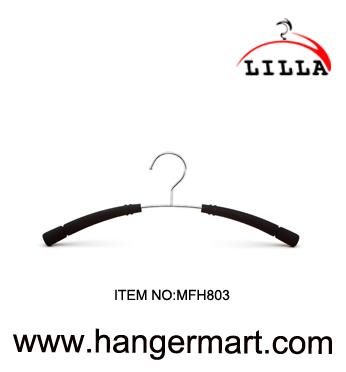LILLA- non-slip clothes metal hanger with pearl cotton pad MFH803