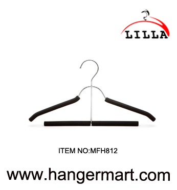 LILLA-Deluxe metal combination suit hangers with trousers bar MFH812