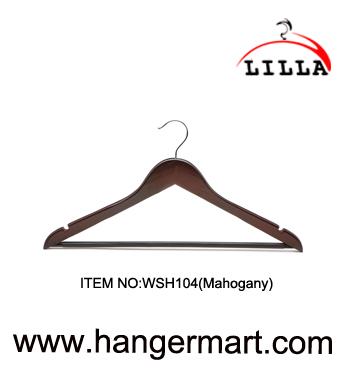 κρεμάστρες Lilla-κοστούμια WSH104(μαόνι)