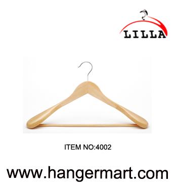 wide shoulder wooden hangers
