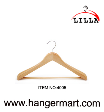 wide shoulder wooden hangers