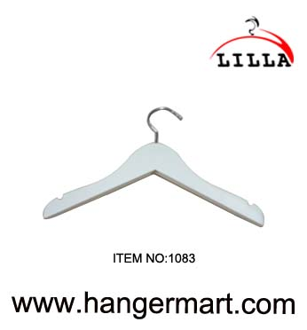 LILLA-White color wooden coat hangers 1083