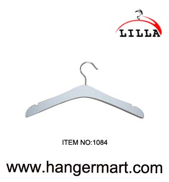 LILLA-White color wooden coat hangers 1084