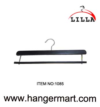 LILLA-Black color wooden trouser hangers 1085