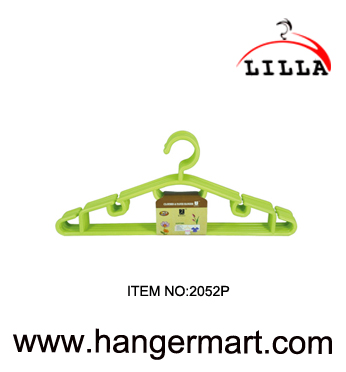LILLA-Good quality green color coat plastic clothes hanger 2052P