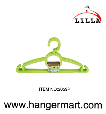 LILLA-hot selling green color coat hangers for clothes plastic hangers 2059P