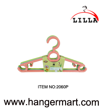 LILLA-colorful plastic clothes hanger non-slip with hook 2060P