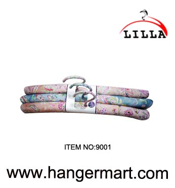 fabric coated clothes hangers