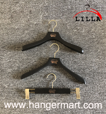 wooden hanger rack