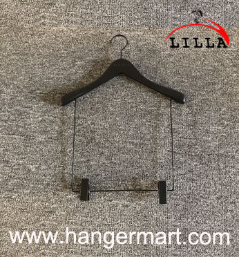 LILLA-Restile logo printed Suits display wooden hangers